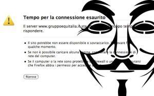 Anonymous attacca anche Equitalia