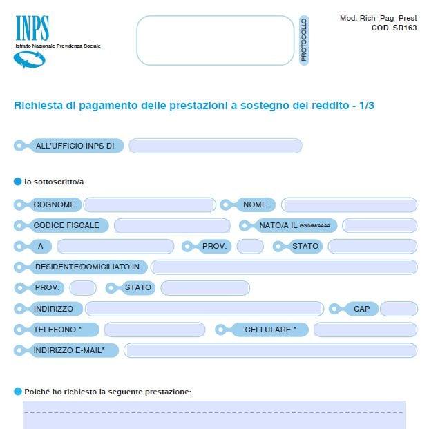 SR163 INPS, cos'è e come compilare il modulo per le principali indennità